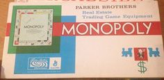 Monopoly Vintage 1961 Parker Brothers Board Game Complete #ParkerBrothers