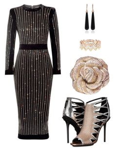 """""""Evening Styling"""" by iamdeesymone ❤ liked on Polyvore featuring EF Collection, L.A.M.B., SUSAN FOSTER and Judith Leiber"""
