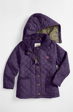 Mini Boden 'Pretty' Quilted Jacket (Little Girls & Big Girls) available at #Nordstrom