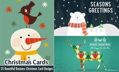 25 Beautiful Business Christmas Cards Designs for your inspiration http://webneel.com/business-christmas-cards-corporate | Design Inspiration http://webneel.com | Follow us www.pinterest.com/webneel