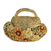 Flower Purse jeweled trinket box