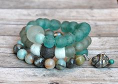 Natural African Trade Glass Bracelets