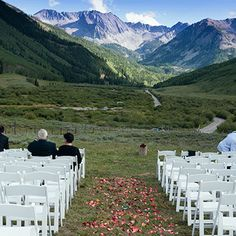This Aspen Wedding Location is a memorable setting for your Aspen wedding; an outdoor Aspen wedding venue.