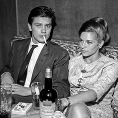 Alain Delon, French style icon and star of films including Purple Noon (1960), Le Samouraï (1967), and Le Cercle Rouge (1969), celebrates his 82nd birthday today. Delon is pictured here with his wife Nathalie Delon in 1965, sporting a slick mohair two-piece suit, white spread-collar shirt, slim dark tonal-patterned silk tie, and Gitanes cigarette... the epitome of sixties French style despite a less-than-reputable off-screen life. . . . #alaindelon #french #actor #frenchstyle #1960s…