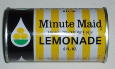 Minute Maid Lemonade...it has been so long since I've seen this can!
