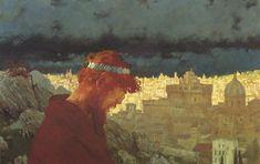 "Edward Okuń ""Judas"" 1901, oil on cardboard, 45 x 70 cm, The National Museum in Warsaw"