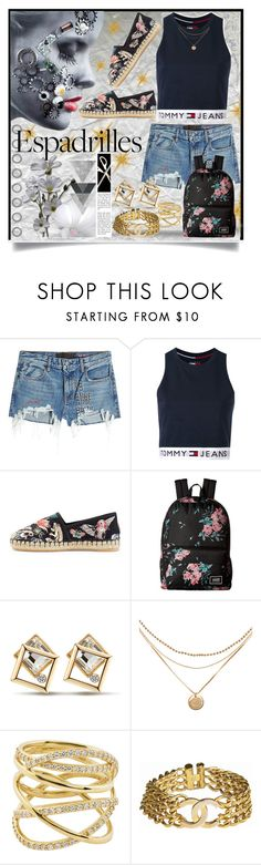 """""""Espadrilles"""" by jeneric2015 ❤ liked on Polyvore featuring T By Alexander Wang, Tommy Hilfiger, Valentino, Vans, Lana, Chanel and espadrilles"""