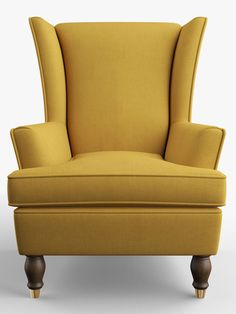 Duresta Keaton Wing Back Armchair, Kew Linen Turmeric at John Lewis & Partners Wingback Chair, Sofa Bed, Armchair, Ranges, Seat Cushions, Accent Chairs, Upholstery, Shops, Traditional