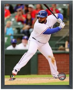 Prince Fielder 2014 Texas Rangers -11 x 14 Photo in Glassless Black Sports Frame