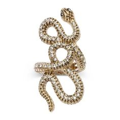 Decree® Gold-Tone Stretch Snake Ring   found at @JCPenney