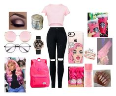 """""""#pinkbaby💞💞"""" by daijiabookie ❤ liked on Polyvore featuring UGG, Herschel Supply Co., Rolex, Casetify and Matthew Williamson"""