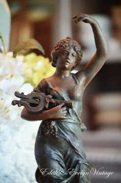 Antique French Statue Musique Moreau Paris by edithandevelyn on Etsy