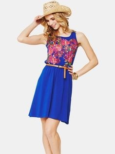 South Placement Print Dress, www. Latest Fashion, Kids Fashion, Competition, Summer, Shopping, Dresses, Women, Vestidos, Summer Time
