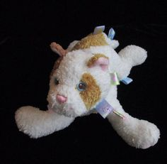 "Taggies Tagitha Brown White Cat Kitten Plush Soft Toy Mary Meyer Ribbon 13""   #MaryMeyer"