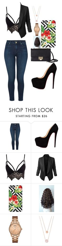 """Untitled #542"" by samson-90 on Polyvore featuring J Brand, Club L, LE3NO, GUESS, Michael Kors and Jimmy Choo"