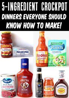 5 Ingredient or Less Recipes! Easy Crockpot Dinner ideas the whole family will LOVE! Go check out this HUGE list and get inspired with some simple and delicious dinners for this week! Delicious Crockpot Recipes, Easy Dinner Recipes, Fall Recipes, Easy Meals, Dinner Ideas, 5 Ingredient Dinners, Savoury Dishes, Yummy Appetizers, Favorite Recipes