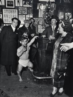 New Year's Eve at Sammy's-on -the-Bowery, 1943. By Weegee the Famous