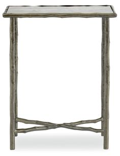 Carlisle Metal Chairside Table - Bernhardt Furniture 19-5/8W  12-5/8D   24H