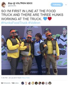 Image result for voltron hunk I love this where is this food truck I need to go