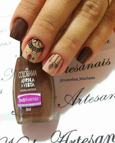 As unhas decoradas se tornaram mania nacional. Hoje é possível fazer diversos tipos de decoração devido às inúmeras técnicas utilizadas, que permite diversos efeitos nas unhas. Como hoje o mercado de ... Winter Nails, Summer Nails, Winter Nail Art, Trendy Nail Art, Easy Nail Art, Glitter Nail Polish, Nude Nails, Henna Nails, Kawaii Nails