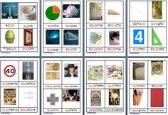 Metodo Montessori schede delle nomenclature per le difficoltà ortografiche CUA QUA