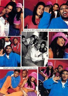 Aaliyah and Kidada Jones | Aaliyah, @MissyElliott @RAD_6 ,Kidada Jones and Missy`s cousin Malik ...