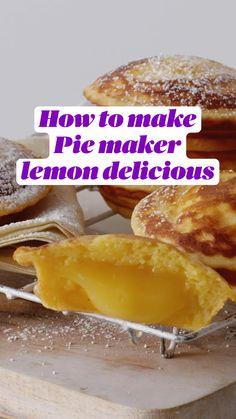Mini Pie Recipes, Fun Baking Recipes, Lemon Recipes, Sweet Recipes, Dessert Recipes, Cooking Recipes, Breville Pie Maker, Tefal Actifry, Delicious Desserts