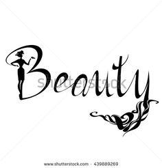 Beautiful black silhouette woman Beauty Logo, symbol, icon, sign for salon, spa salon, firm company or center.…