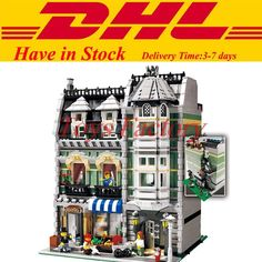 59.99$  Watch now - http://aliblo.worldwells.pw/go.php?t=32697311374 - LELE 30005 Lepin 15008 2462Pcs City Street Creator Green Grocer Model Building Kits Minifigure Blocks Bricks  Compatible 10185