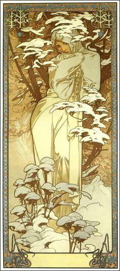 Alphonse Mucha: The Seasons Winter (1900)