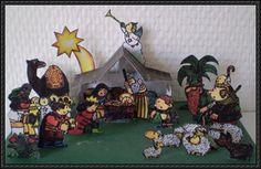 Christmas Papercraft - Nativity Set Diorama Ver.3 Free Templates Download