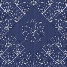 Traditional Japanese Embroidery Ornament with fans and ...
