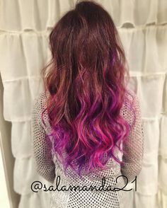 Purple and pink balayage hair