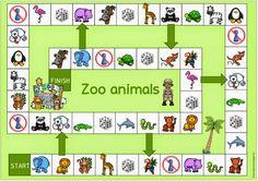 """Spielfeld """"Zootiere"""" für Englisch und DAZ"""