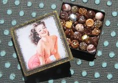 Dollhouse Miniature Box of Chocolates 12th by TheSweetBaker, $14.00
