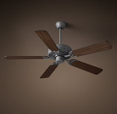 """Bistro Ceiling Fan 52"""" - Galvanized Steel With Drifted Brown at Restoration hardware"""