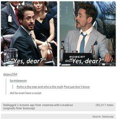 RDJ is Tony Stark