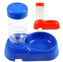 Food Dish Pet BowlDual Port Dog Automatic Water Dispenser Feeder Utensils Bowl Cat Drinking Fountain