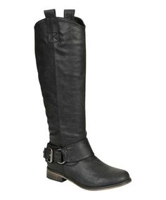 Loving this Black Rider Buckle Boot on #zulily! #zulilyfinds
