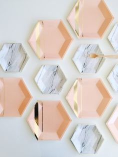 Marble Print + Blush Gold Party Paper Plates Goddess Collection by Harlow & Grey Gold Party, Gold Foil Paper, Blush And Gold, Peach Blush, Rose Gold, Decoration Inspiration, Party Plates, Party Tableware, Ceramic Tableware