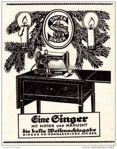 Original-Werbung/ Anzeige 1925 - SINGER NÄHMASCHINE - ca. 80 x 110 mm
