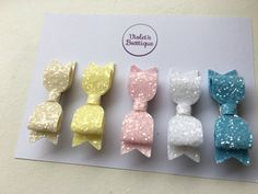 Sugar Frosted Glitter Fabric Small Hair Pinch Clips Set - Ideal for fringes Sugar Frosting, Glitter Fabric, Fringes, Great Gifts, Place Card Holders, Hair, Stuff To Buy, Etsy, Fringe Coats