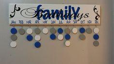 Family Birthdays Birthday Board Birthday Calendar