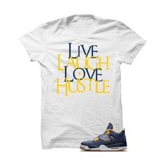 5af6ffaa87e Jordan 4 Dunk From Above White T Shirt (Love Hustle