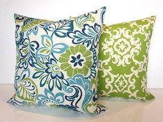 Blue Outdoor Pillows Lime green Outdoor Throw Pillow Covers