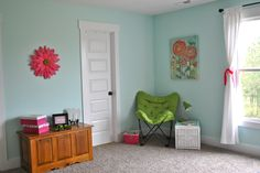 SW Tame Teal - girls room wall color