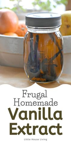 Have you been wanting to make your own vanilla extract but would prefer to make it without alcohol? Here's how to make vanilla extract with glycerin! Cheap Recipes, Cheap Meals, Whole Food Recipes, Diy Food, Food Ideas, Little House Living, Homemade Vanilla Extract, Amazing Crafts, Eating Organic