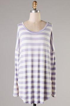Leigh Striped Top - Lilac #ShopMCE
