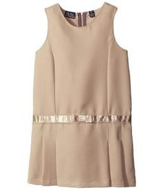 Nautica Kids Jumper with Bow Waistband (Little Kids) (Su Khaki) Girl's Dress