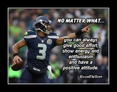 Enthusiasm Quotes, Football Motivation, Football Gift, Russell Wilson, Quote Posters, Seahawks, Positive Attitude, Printing Services, Helping People